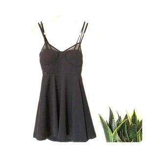UO Kimchi Blue Little Black Skater Mini Dress S